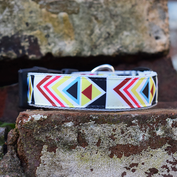 Dog Lead, Handmade, Bright Geometric, Dog Accessories