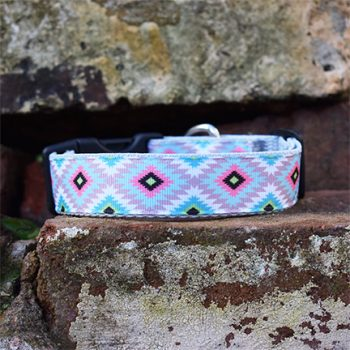 Handmade Rudi Dog Collar (Aztec)