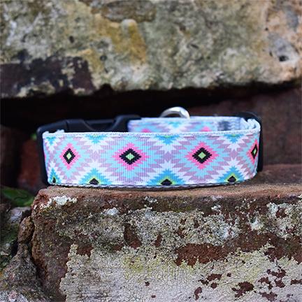 Handmade Rudi Dog Collar (Aztec)