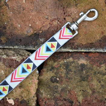 Handmade Bright Geometric Dog Lead
