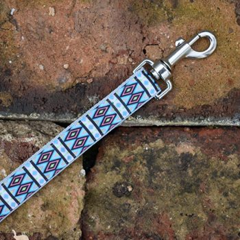 Handmade Turquoise Tribal Dog Lead (Aztec)