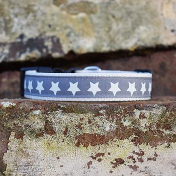 Handmade Starry Night Christmas Dog Collar (Stars)