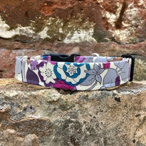 Floral Silk Dog Collar