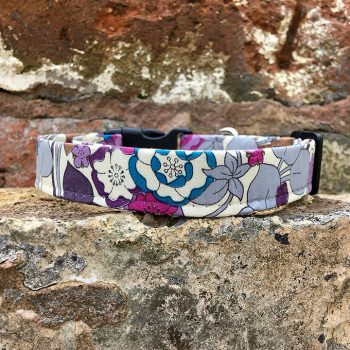 handmade, dog collar, dog accessories, floral
