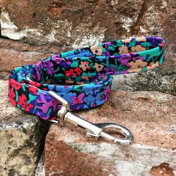 Handmade, dog lead, dog accessories, floral