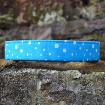 Handmade, dog collar, dog accessories, turquoise, blue