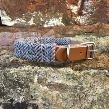 tweed, dog collar, leather, dog accessories, handmade