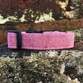 Red Marl Dog Collar, red marl, spring range, handmade, dog collar, red collar, dog accessories, red