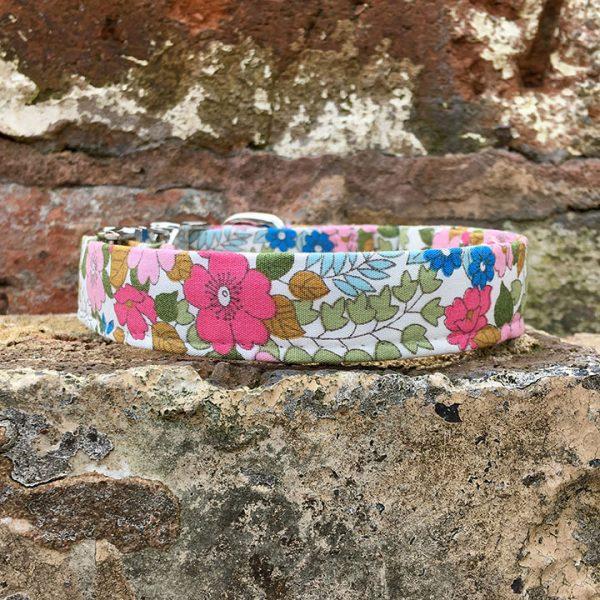 Spring Floral Dog Collar, pink, spring range, handmade, dog collar, flowery collar, dog accessories, flowers