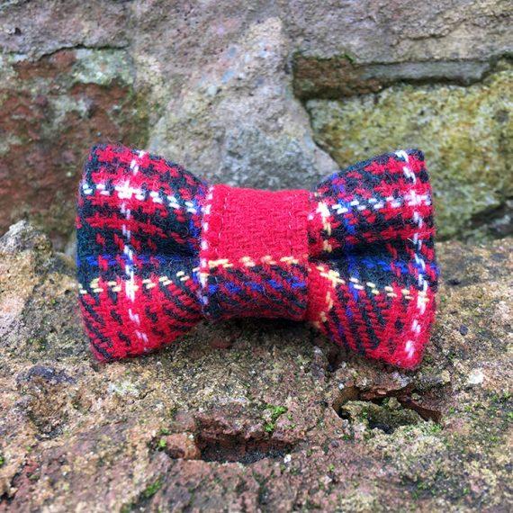 handmade, dog accessories, tartan, dog bow tie, dickie bow