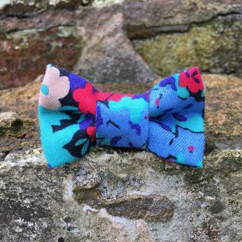 handmade, dog accessories, floral, dog bow tie, dickie bow