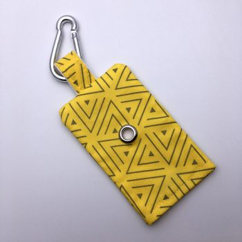 dog poop bag holder, bananarama, handmade, british, dog accessories