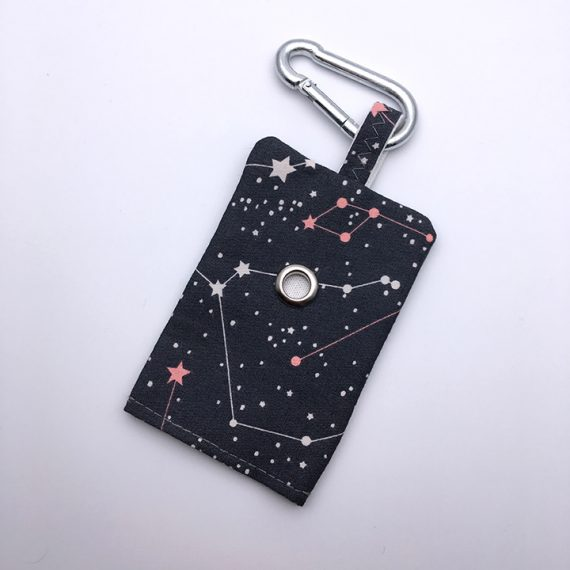 dog poop bag holder, constellation, handmade, british, dog accessories